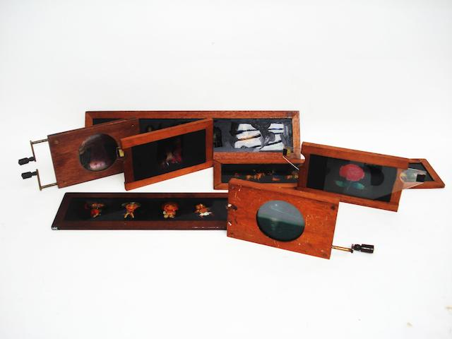 A good collection of magic lantern show slides qty
