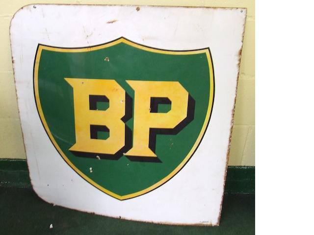 A BP enamel sign,