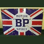 "A ""BP"" Motor Spirit enamel sign,"
