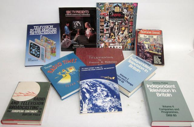 A quantity of good television and other broadcasting books: 1920s-2000s