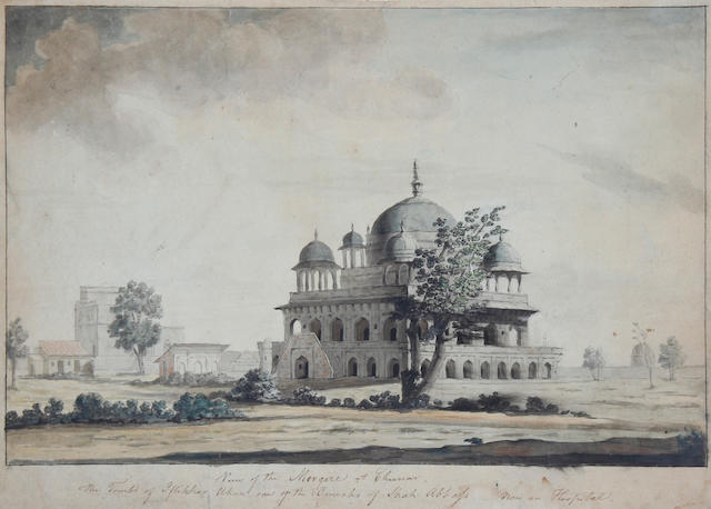 Circle of Thomas Daniell, RA (British, 1749-1840) Mosque at Chinno