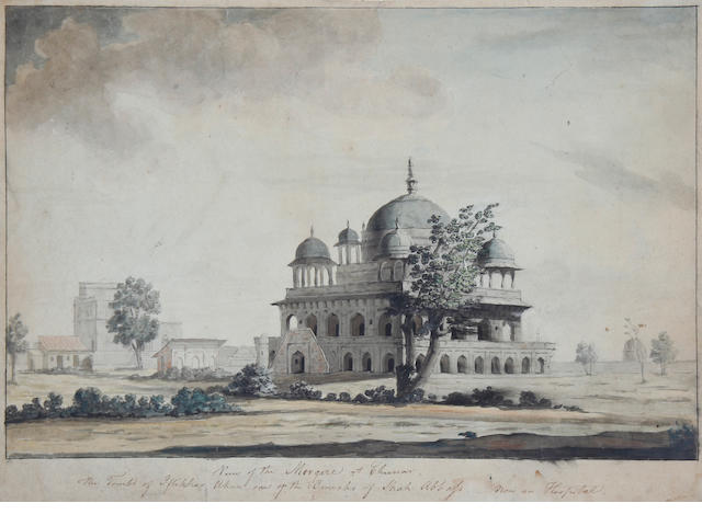 Circle of Thomas Daniell, RA (British, 1749-1840) Mosque at Chinno (image size)