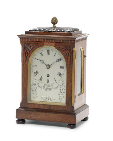 A second quarter of the 19th century rosewood bracket timepiece