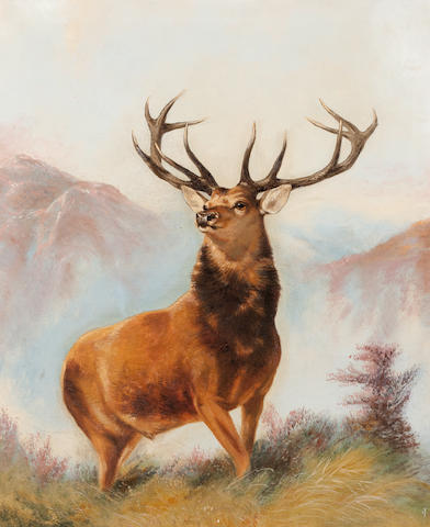 Follower of Robert Cleminson (British, active 1865-1868) A Highland Stag