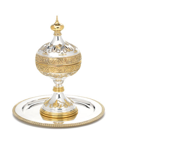 An 18ct gold, silver & silver gilt chalice
