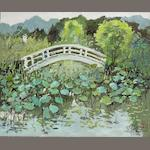Pang Jun (b.1936) Lotus Pond in Suzhou
