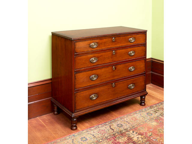An important early Australian  casuarina, beefwood and cedar chest of drawers attributed to Lawrence Butler circa 1810
