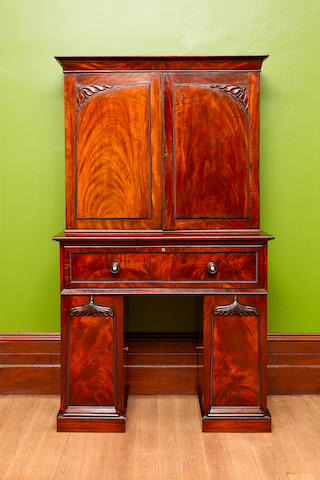 A rare early Australian cedar secretaire bookcase circa 1835