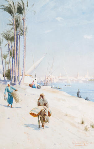 Robert George Talbot Kelly, R.I., R.B.A. (British, 1861-1934) On the banks of the Nile