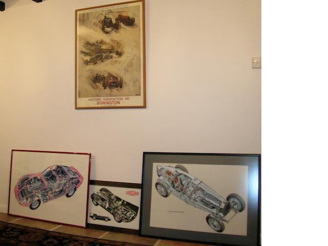 A limited edition 'Historic Association 100 Donnington 15-16 October 1988' print signed by the artist Francisco Scianna