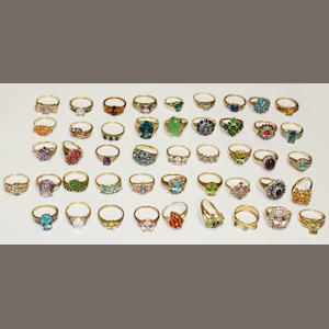 A large assorted dress rings