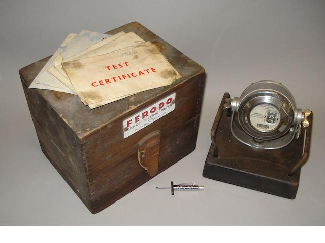A Ferodo brake testing meter by Tapley Meters Limited, 1960s, (Qty)