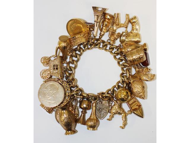 A curb link charm bracelet