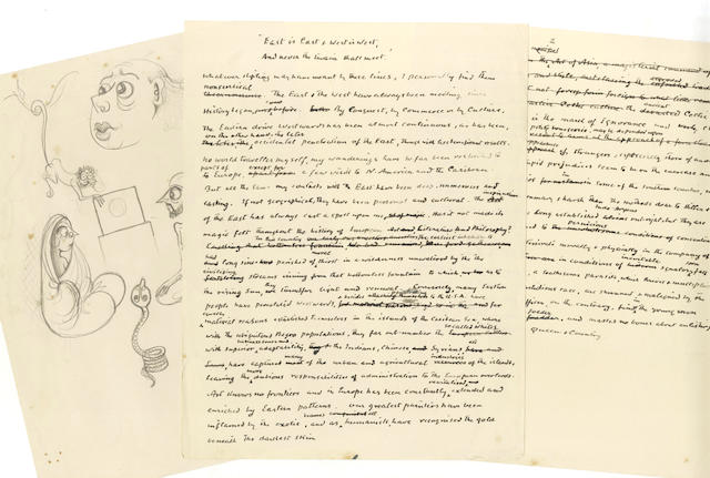 BURNETT (HUGH) Papers of Hugh Burnett, many as creator and producer of the celebrated programme Face To Face, running between 1959 and 1962