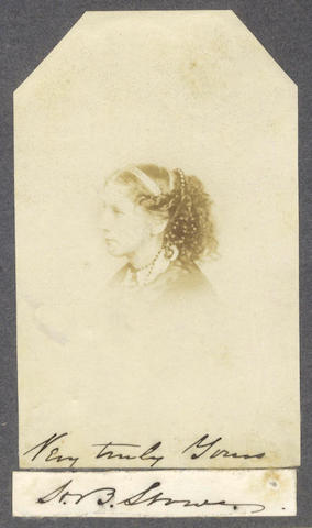 STOWE (HARRIET BEECHER) Three autograph letters signed, 1863-1873