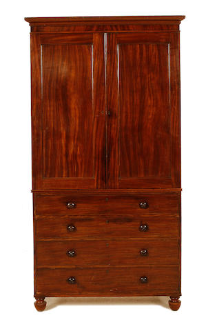 A Regency mahogany linen press