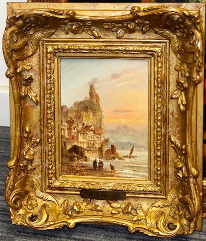Felice Auguste Rezia (Italian, active 1866-1906) A pair of Italian scenes