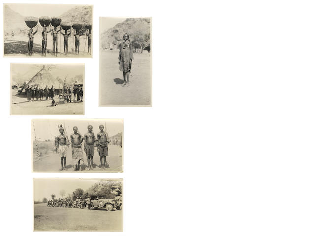 SUDAN A collection of 82 silver gelatin prints of tribal groups, ... tour of Sudan in 1929; and diary, and album (3)