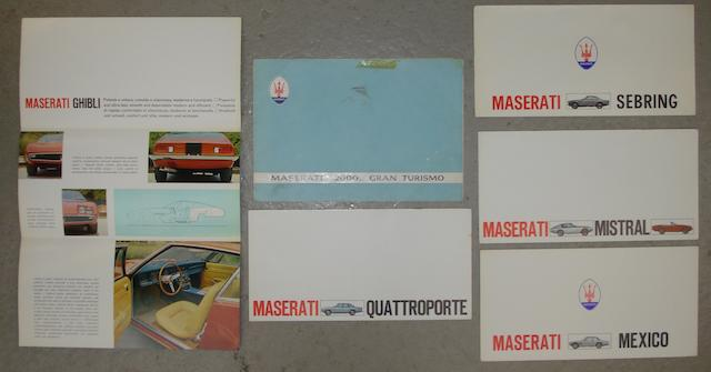Six Maserati factory sales brochures