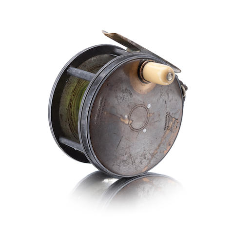 A Hardy The 'Perfect' brass-faced fly reel 1896 check