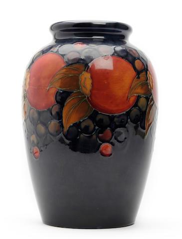 Moorcroft pommegranate vase