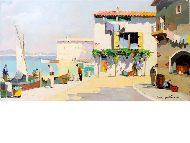 D'Oyly John (British, 1906-1993) Along the French Coast at St Tropez, French Riviera