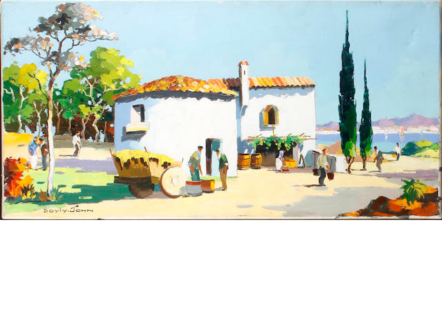 D'Oyly John (British, 1906-1993) The Granary in Spain along the coast of the Costa del Sol
