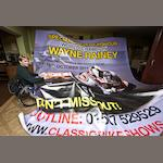 A 'World Champion Wayne Rainey' signed banner,  To be sold for the benefit of The Lymphoma Association,