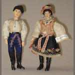Bucherer metal jointed Czechoslovakian man and woman