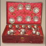 Children's pewter boxed tea-service