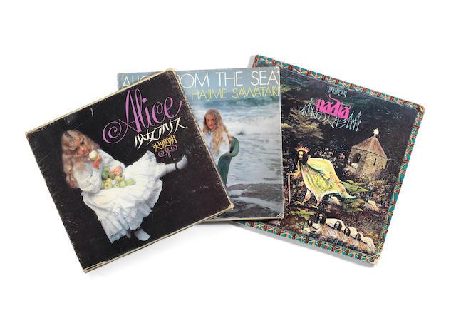 Hajime Sawatari (Japanese, born 1940), Three photobooks, including 'Nadia' (1973, 1st edition), 'Alice' (1973, 1st edition, signed) and 'Alice From the Sea' (1979, 1st edition, signed).