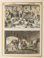 Felix Achille Saint-Aulaire (French, born 1801) Rade d'Amboine hand coloured lithograph 29 x 39.5cm, and a group of six further similar prints, West Indian subjects. (7)
