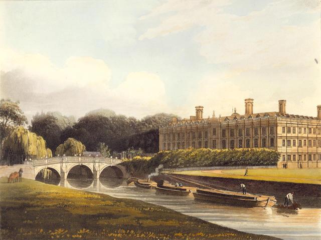 UNIVERSITY OF CAMBRIDGE ACKERMANN (RUDOLPH) A History of the University of Cambridge, its Colleges, Halls, and Public Buildings, 3 vol., 1815