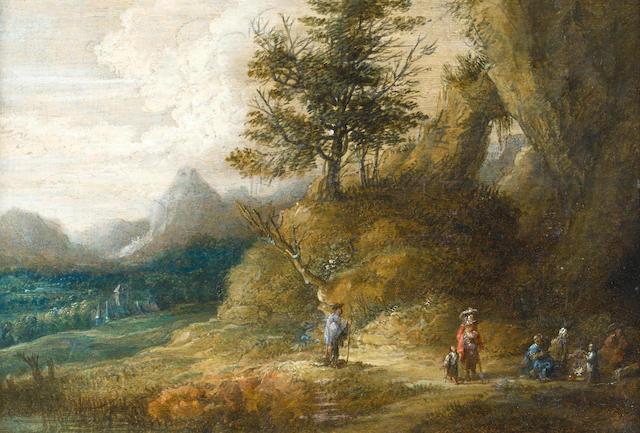 Lucas van Uden (Antwerp circa 1595-circa 1673) A mountainous landscape