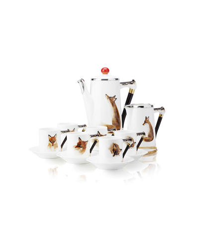 A Royal Doulton 'Reynard The Fox' coffee set