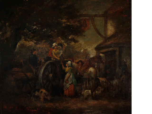 Follower of George Morland (British, 1763-1804) The Market Wagon