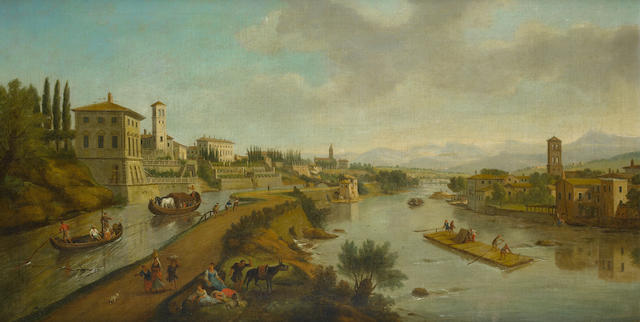 Studio of Gaspar van Wittel, called Vanvitelli (Utrecht circa 1653-1736 Rome) A view of Vaprio d'Adda