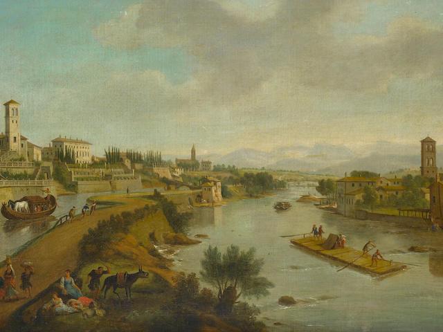 Studio of Gaspar van Wittel, called Vanvitelli (Utrecht circa 1653-1736 Rome) A view of Vaprio d'Adda