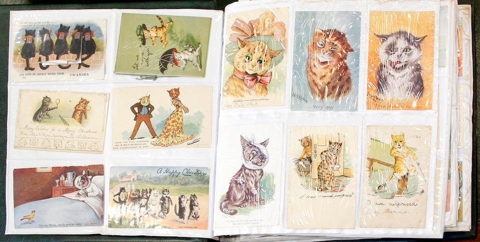 An album of postcards,