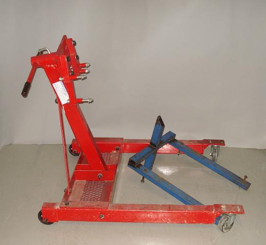 A Dana Task Master engine inspection stand,