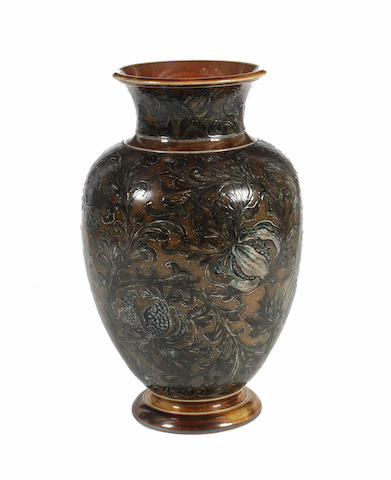 A Martin Brothers vase, dated 1892