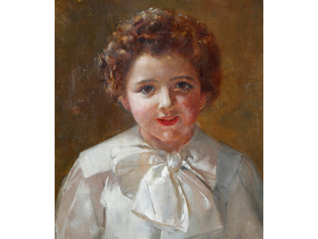 Thomas William Roberts (Australian, 1856-1931) Portrait of Adrian Buckland