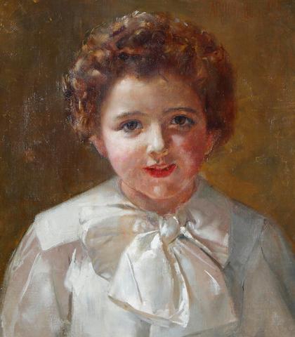 Thomas William Roberts (Australian, 1856-1931) Portrait of Adrian Buckland