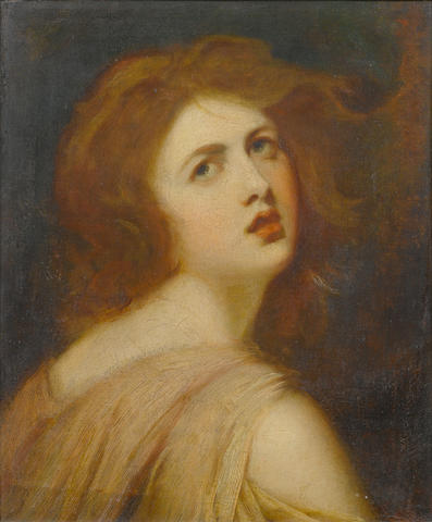 George Romney (Beckside 1734-1802 Kendal) A Study of Emma, Lady Hamilton, as Miranda