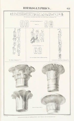 YOUNG (THOMAS) Hieroglyphics, Collected by the Egyptian Society, Arranged by Thomas Young, 2 parts in one vol.