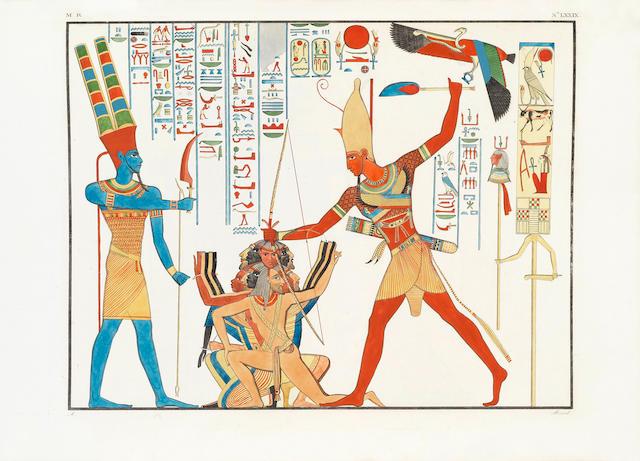 ROSELLINI (IPPOLITO) I monumenti dell'Egitto e della Nubia. Disegnati dalla apedizione scientifico-letteraria Toscana in Egitto, 3 atlas vol. (without text volumes)