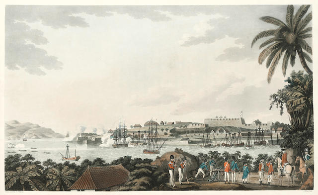 WILLYAMS (COOPER) An Account of the Campaign in the West Indies, in the Year 1794... with the Reduction of the Islands of Martinique, St. Lucia, Guadeloupe, Marigalante, Desaida, &c., FIRST EDITION, LARGE PAPER COPY, WITH FINE HAND-COLOURED AQUATINTS, 1796