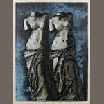Jim Dine (American, born 1935) Double Venus in the Sky at Night  Screenprint and lithograph in colours, 1984, on William Morris Nonesuch buff paper, signed and numbered 39/50 in pencil, printed by Christopher Betambeau, London, and Toby Michel, Los Angeles, published by Pace Gallery, New York, with full margins, 1048 x 772mm (41 1/4 x 30 3/8in)(SH)