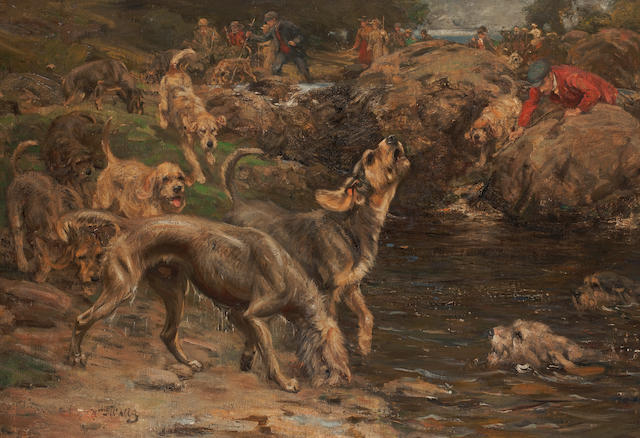 William Walls, RSA RSW (British, 1860-1942) The Otter Hunt