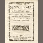 PRYNNE (WILLIAM) A Brief Memento to the Present Un-Parliamentary Junto,1648; and 12 others (13)